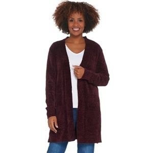 Sejour Open Front Cardigan Sweater (Plus Size)